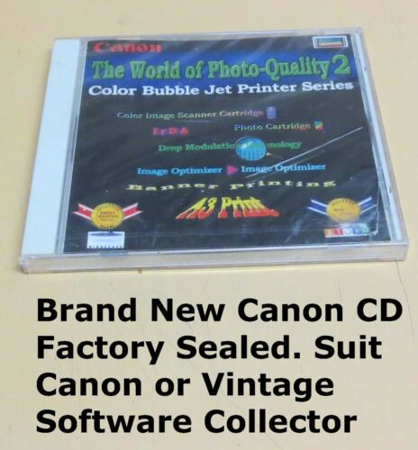 CANON | Vintage Software 💽 | Original Disk Mint ✔️| Suit Collector or Museum |