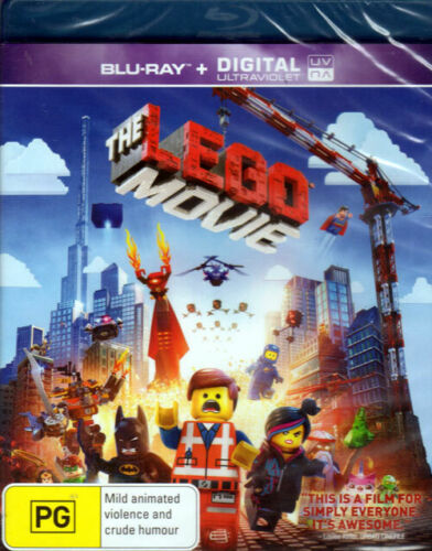 The Lego Movie - voices of Chris Pratt, Will Ferrell - New Sealed Blu-ray