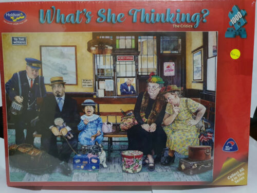 Holdsons 77208 What's She Thinking? The Critics by Susan Brabeau 1000 pce jigsaw