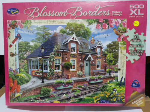 Holdsons 77174 Blossom Borders Railway Cottage by Howard Robinson 500 pce jigsaw