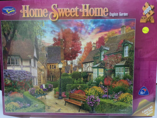 Holdsons 77170 Home Sweet Home English Garden by David Maclean 1000 pce jigsaw