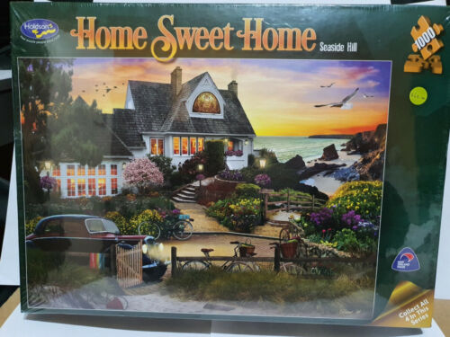 Holdsons 77073 Home Sweet Home Seaside Hill by David Maclean 1000 pce jigsaw