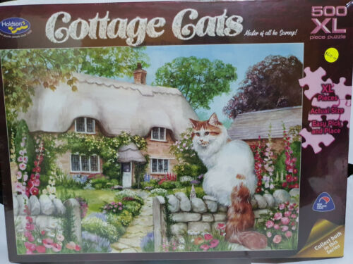 Holdsons 77197 Cottage Cats Master of all he Surveys by Debbie Cook 500pc jigsaw