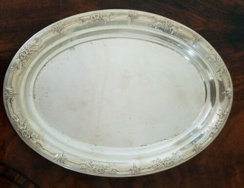 International Silver Wild Rose W49 Sterling Silver 925 Pattern Small Oval Tray