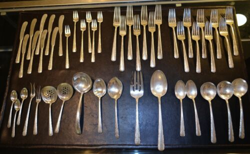 TOWLE CANDLELIGHT 925 STERLING SILVER 48 PIECE FLATWARE SET