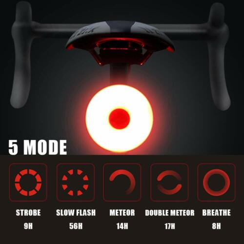 LED Bicycle Bike Cycling Front Rear Tail Light USB Rechargeable 5Modes Lamp AU