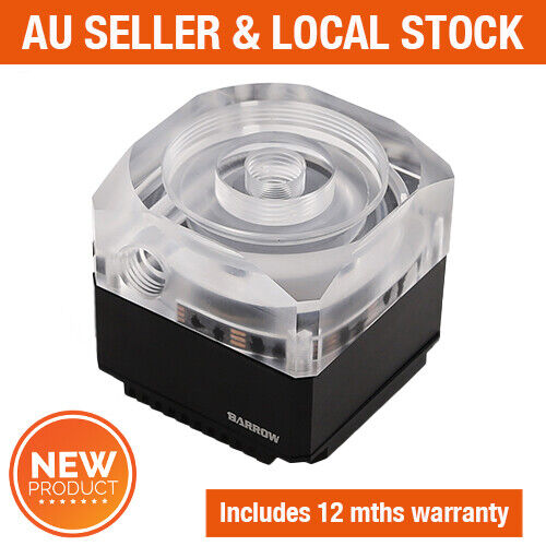 Barrow PC Water Cooling Pump 17W DDC PWM RGB Acrylic stand alone reservoir combo