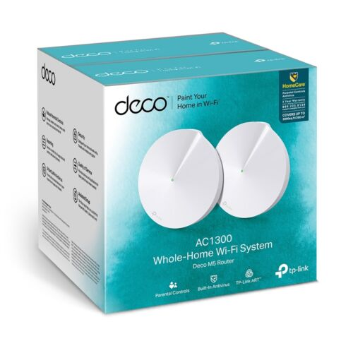 TP-Link Deco M5-2P (2-Pack) AC1300 Mesh Wi-Fi System