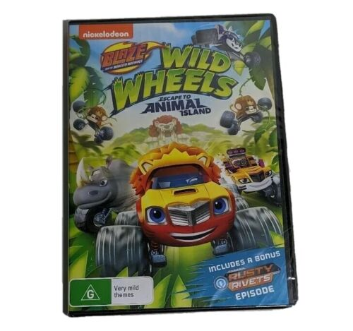 Blaze and the Monster Machines Wild Wheels Escape DVD Region 4 PAL with tracking