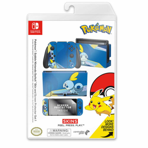Controller Gear Pokemon Sobble Switch Skin & Screen Protector Set NEW
