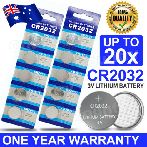 20x CR2032 3V LITHIUM BUTTON BATTERY BRAND NEW GENUINE CELL BATTERY AU Stock