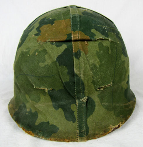 Vietnam War U.S. Army M-1 Helmet w/Late Pattern Mitchell Cover & ChinstrapHats & Helmets - 36062