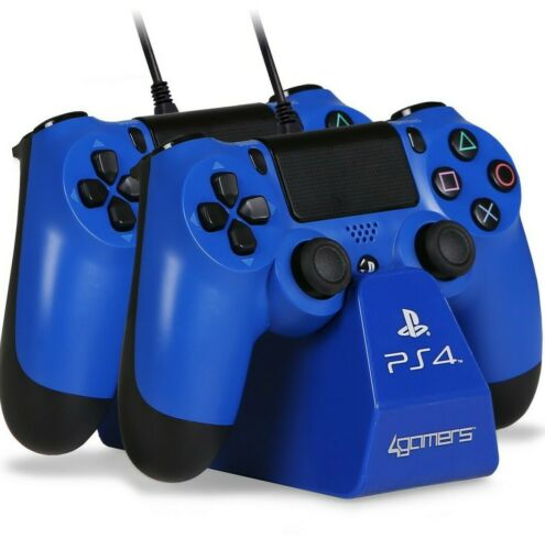 4Gamers PS4 Duel Controller charging dock Blue