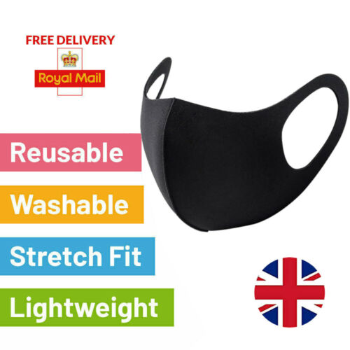Face Masks Washable Uk Breathable Cotton Unisex Reusable Protection Face Mask <br/> Approved UK Seller ✅ Free P&P ✅ Same Day Shipping 1pm ✅