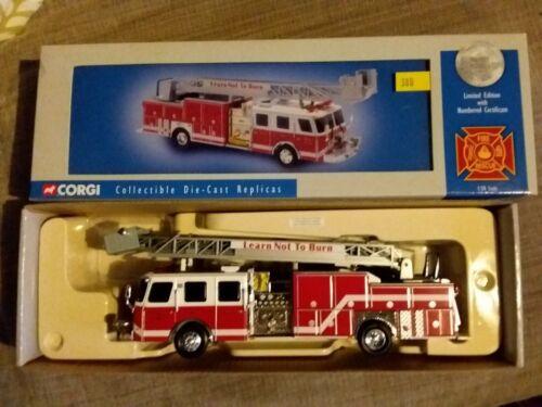 Voiture de pompiers CORGI 54902 E-One 75 ft Ladder Duncan Fire Dept