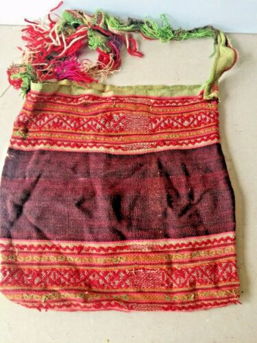 Vintage south american native woven textile bag