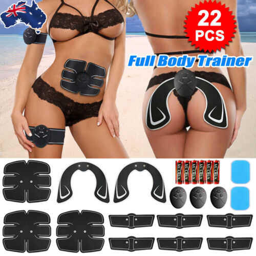 22PCS EMS Muscle Stimulator Training Gear ABS Ultimate Hip Trainer Body Exercise