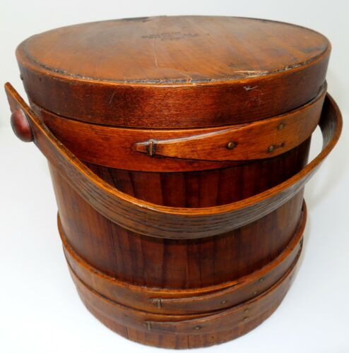 """Extremely RARE Primitive Firkin, marked """"Our Centennial Best 1775 - 1875"""""""