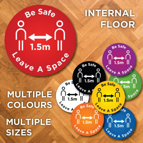 Internal / Indoor Social Distancing keep Apart Distance Floor Sticker 1.5m <br/> WATERPROOF,   Australian made,   NON-SLIP,   EASY APPLY