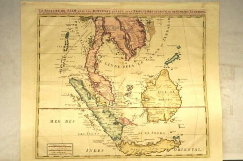 'Royaume de Siam avec...Andemaon', Southeast- Asia, engraved map around 1715