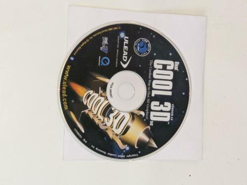 Ulead Cool 3D Version 3.0 Graphic Software 2002  Disc only