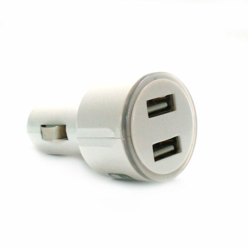 Dual Port 3.1A Car USB charger cigarette 12 24V 5V iPhone ipad ipod white