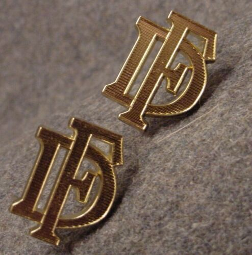 """GERMAN MILITARY SHOULDER BOARD DEVICES - """"DF"""" - GOLD - SET OF TWO - OFFICERGermany - 156432"""
