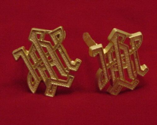 """GERMAN MILITARY SHOULDER BOARD DEVICES - """"LAH"""" - GOLD - SET OF TWO 1st PANZERGermany - 156432"""