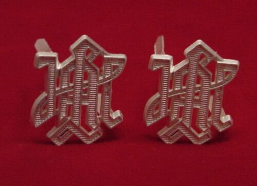 """GERMAN MILITARY SHOULDER BOARD DEVICES - """"LAH"""" - SILVER - SET OF TWO 1st PANZERGermany - 156432"""