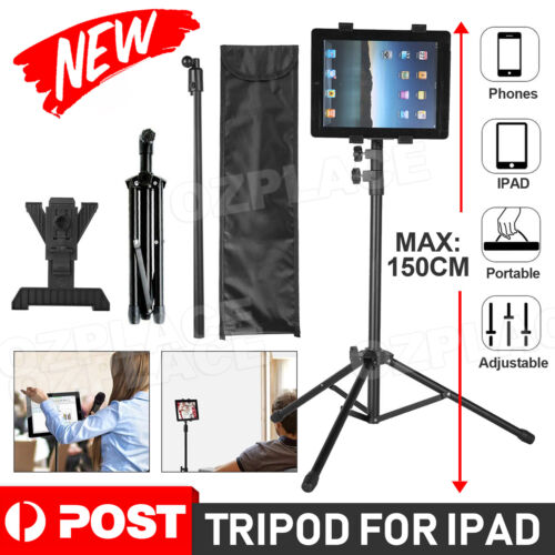 Adjustable Universal Tripod Tablet Stand Holder Music Foldable Bracket for iPad