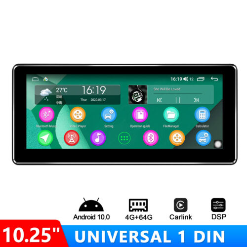 """Joying 10.25"""" Single Din Android Auto 10 Head Unit 4GB/64GB With Optical Output"""