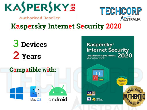 GENUINE NEW KASPERSKY INTERNET SECURITY KEY 2020-3 DEVICES,2 YRS MAC/ANDROID/WIN