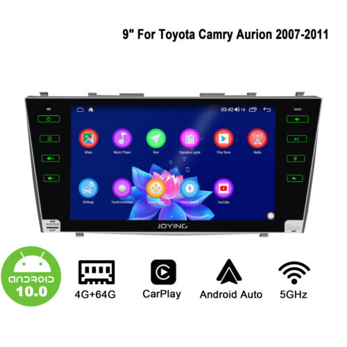 JOYING In Dash Car Player for 2007-2011 Toyota Camry Radio  Android 10 GPS Navi