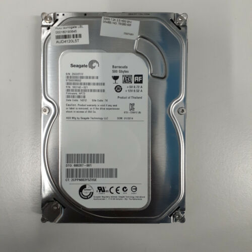 "Genuine Seagate Barracuda 500GB 3.5"" 7200RPM 16MB Internal Hard Drive 1BD142"