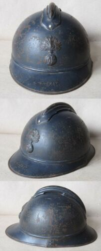 WWI FRENCH ADRIAN HELMET MODEL 1915 M15 / INFANTRY / INFANTERIEFrance - 13964
