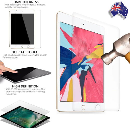 Premium Tempered Glass Screen Protector Cover For Apple Ipad 7th 8th Gen 10.2