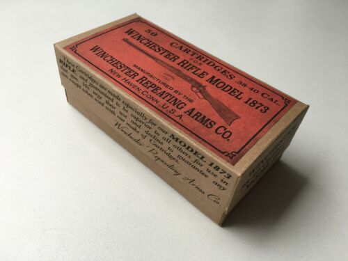 DECO box Winchester Model 1873 .38-40 Cal caliber Ammo box cartridges Old West