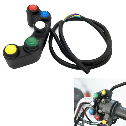 Universal 5 Button Array Motorcycle Switches Race Bikes 22mm Handlebar Switc Hq