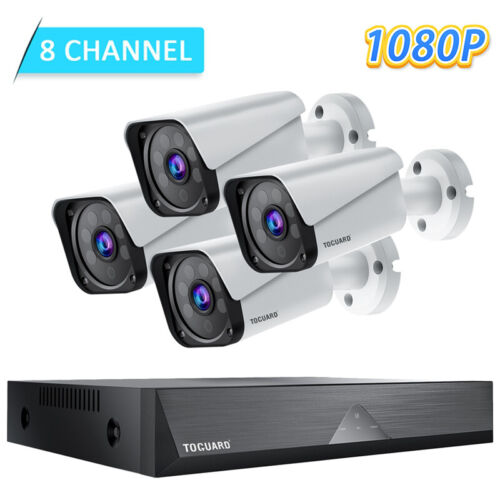 TOGUARD 8CH 1080P Wired Home Security Camera System HD CCTV Surveillance Outdoor
