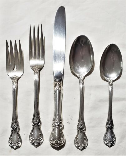Towle Sterling Silver Old Master 5 Piece Place Setting w/Oval Soup Spoon
