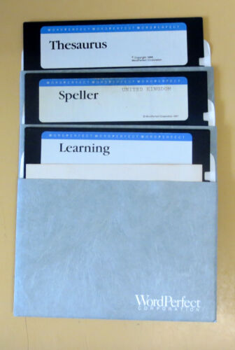 Vintage Software   WordPerfect   5.25 Floppies x 3    Perfect Condition ✔️ ✔️✔ 
