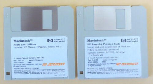Vintage Software | Macintosh | 3.5 Floppies x 2  | Perfect Condition ✔️ ✔️|