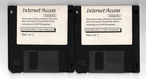 Vintage Software | WINDOWS | 3.5 Floppies x 2  | Internet Acess  | A1 Cond. ✔️