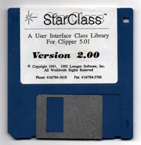 StarClass | Version 2 | For Clipper | 3.5 Vintage Software Disk | A1. |  ✔️✔️