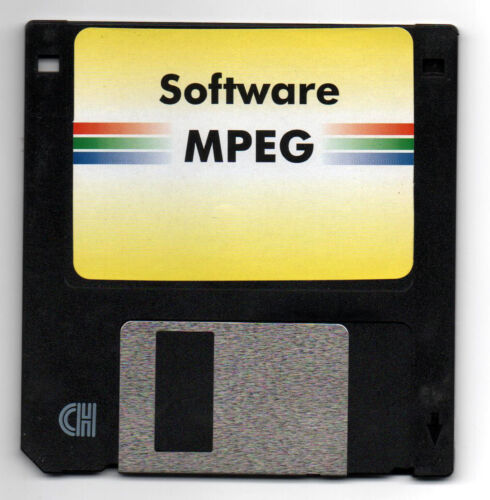 MPEG | 3.5 Vintage Floppy Software Disk | A1.Condition | Circa 1980's ✔️