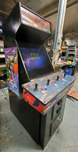 NFL Blitz Gold and NBA Showtime Gold COMBO Arcade Video Game Machine 4 Players!