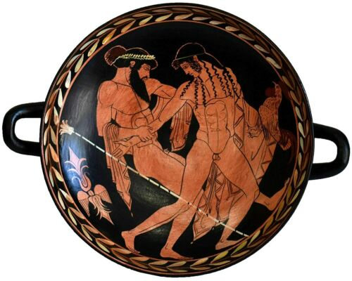 Ganymedes and Zeus Small red Figure Kylix Vase - Museum of Ferrara The Cupbearer
