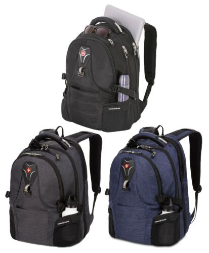 "Swiss Gear 17"" Laptop Backpack Padded Computer Compartment Multiple Pockets TSA"