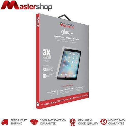 ZAGG InvisibleShield Glass+ Screen Protector for iPad 5th / 6th / Air 2 / Pro 9.