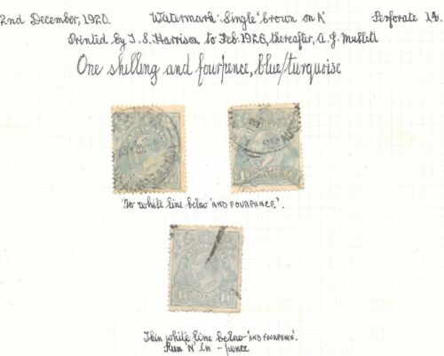 KGV 1/4- TURQUOISE SINGLE WMK 3 STAMPS EX COLLECTION[BP171]